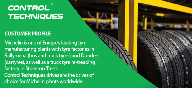 Michelin Dundee cuts energy usage with Control Techniques AC drives