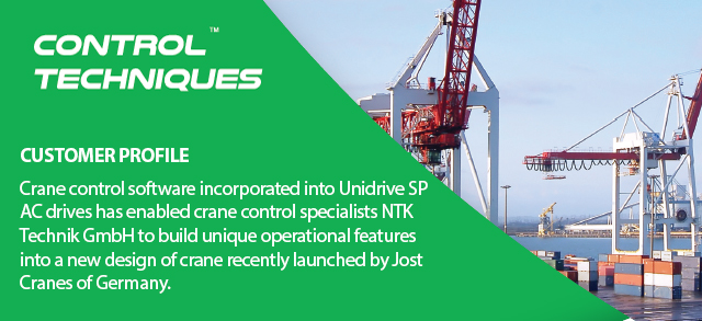 Uniques control software enables superior crane operation