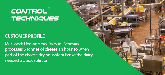 Variable speed drives save the day at Danish Dairy