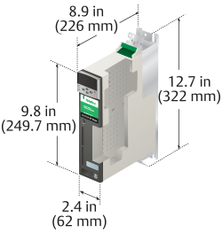 digitax st servo drive dimensions