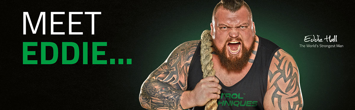 Eddie Hall, brand ambassador of Control Techniques