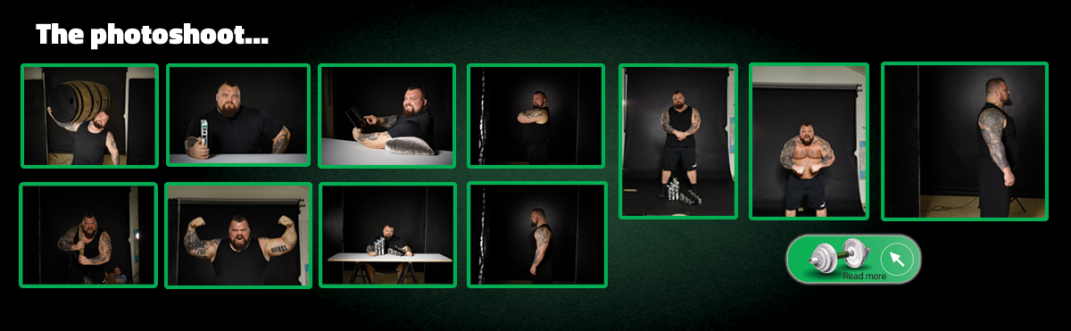Photoshooting Eddie Hall the strongest man in the world