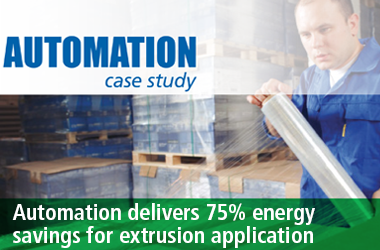 Control Techniques automation delivers energy savings extrusion application