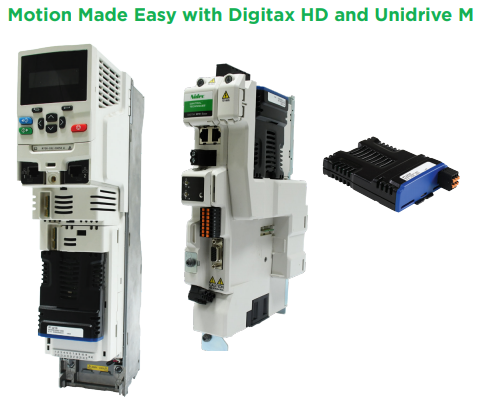 Motion Made Easy with Digitax HD and Unidrive M