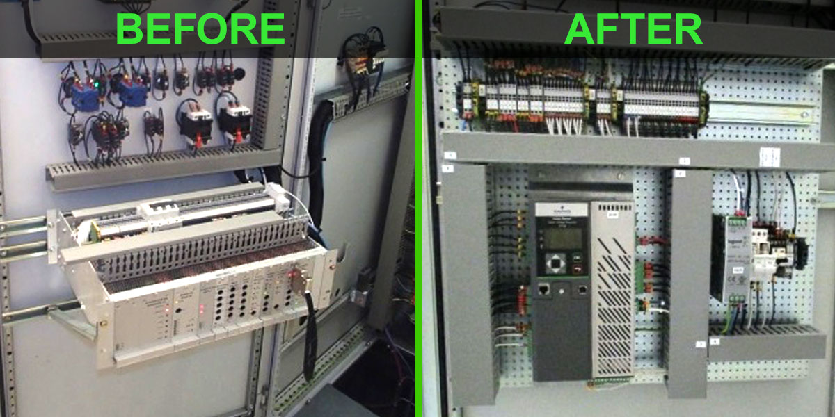 Nidec Leroy-Somer AVR upgrade before / after