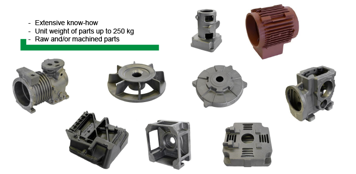 A comprehensive range of parts