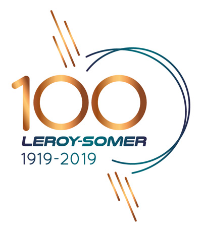 Leroy-Somer 100th anniversary logo