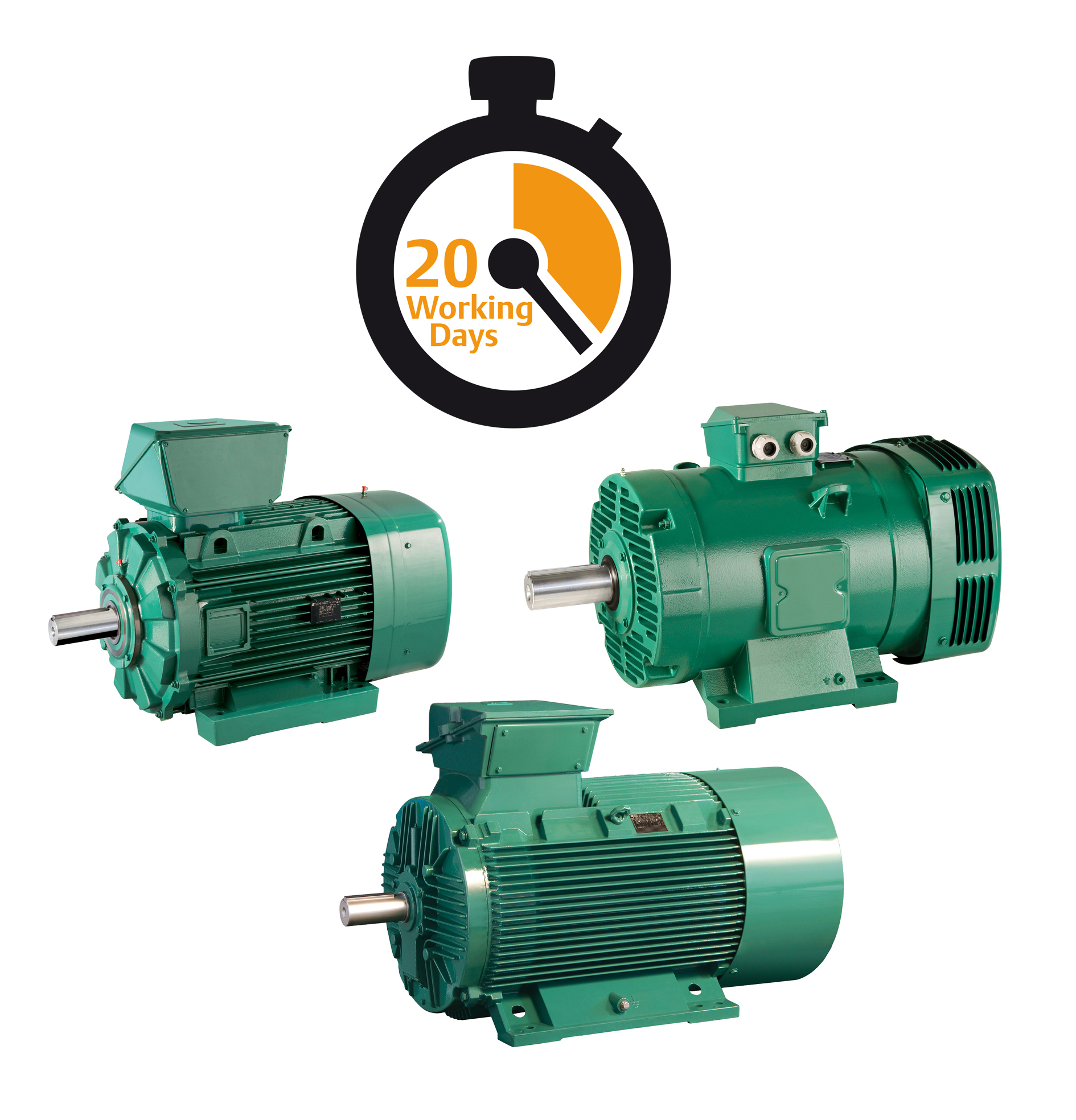 Motors for 20 working days availability