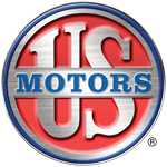 Logo for Nidec Motor Corporation's U.S. MOTORS  brand.