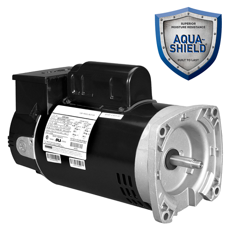 Nidec pool motor featuring Aqua-Shield